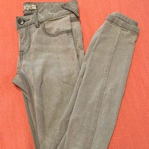 Free People Grey Skinny Jeans- worn once!